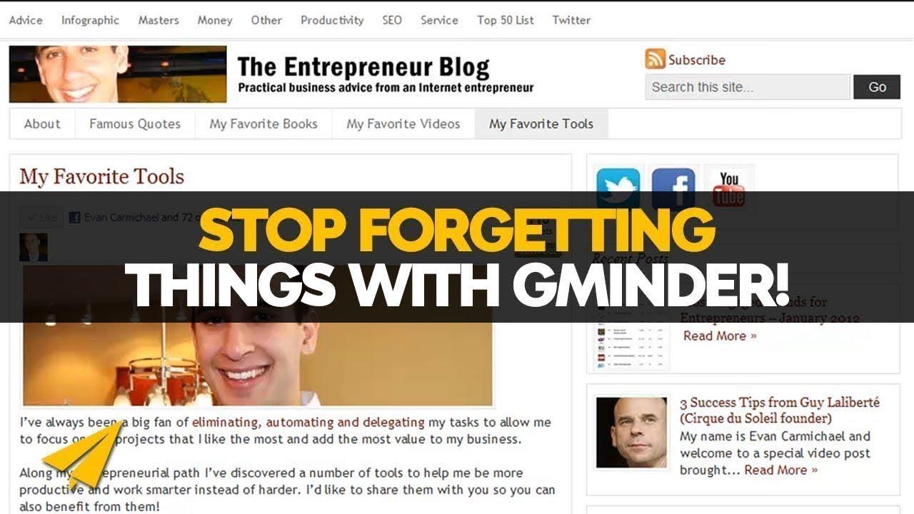 GMinder Tutorial - Gminder Review