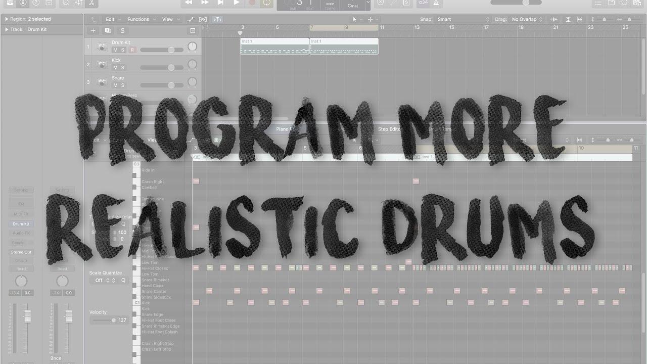 PROGRAM REALISTIC DRUMS - Mix Tip Monday (Logic Pro X)