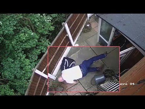 Epic Fail Caught on Camera – Man Falling Out of Shed || Try Not To Laugh