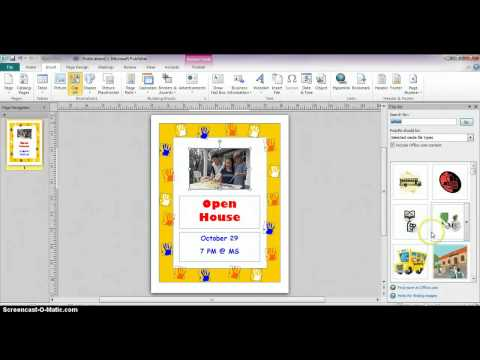 Publisher 2010 - Creating Flyers From Templates