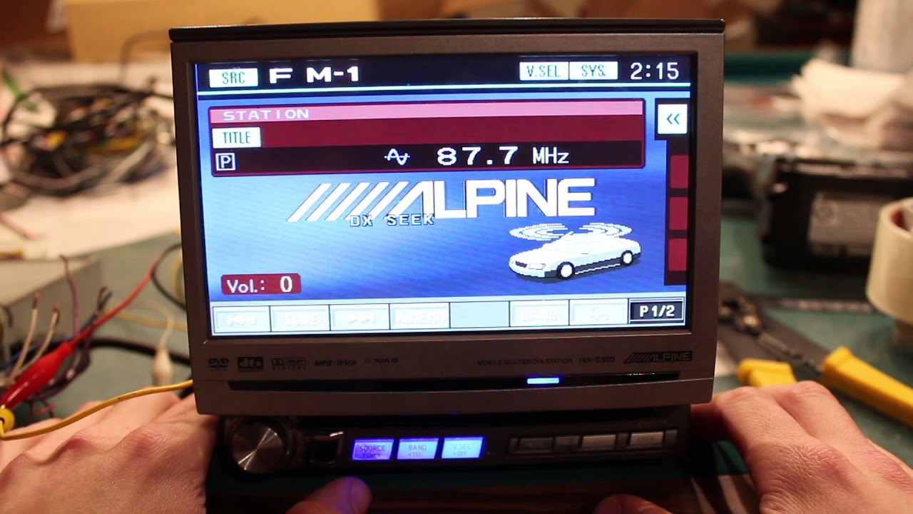 alpine iva w205 wiring diagram alpine iva d300 multimedia deck flip touch screen overview youtube  alpine iva d300 multimedia deck flip