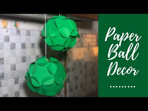 Christmas Ornaments/ Paper Party Ball Instructions / Paper Party Decorations Diy
