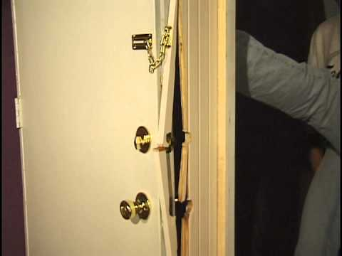 Doors Kicked in.  NIGHTLOCK helps prevent Home Invasions