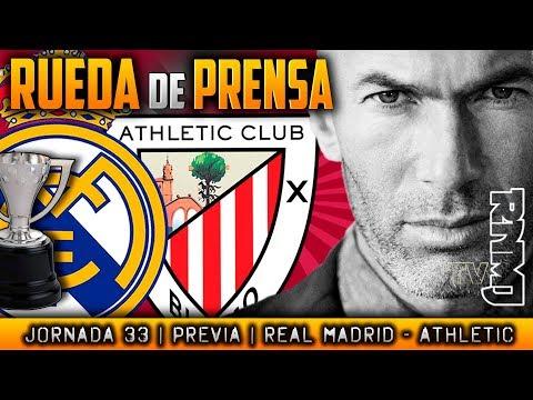 Real Madrid - Athletic Club Rueda de prensa de Zidane (17/04/2018) | PREVIA LIGA JORNADA 33