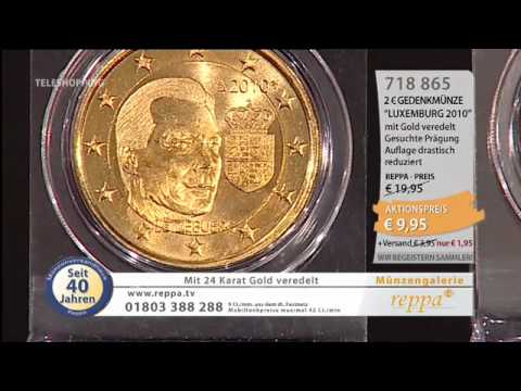 Wwwreppade 2 Euromünze Vergoldet Youtube