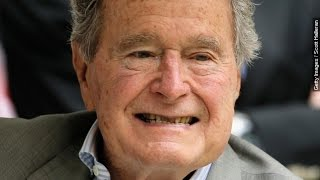 George H.W. Bush Fractures Neck Bone - Newsy