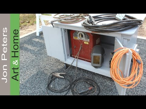 Make a tiny shed welder storage work table youtube make a tiny shed welder storage work table greentooth Image collections