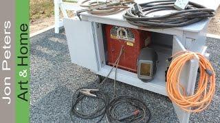 Make An Outdoor Welder Storage Work Table