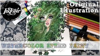 Inktober 2016 Day 08 Moss Watercolor Speed Paint