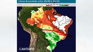 Fim de setembro com aumento da chuva no centro-sul do BR