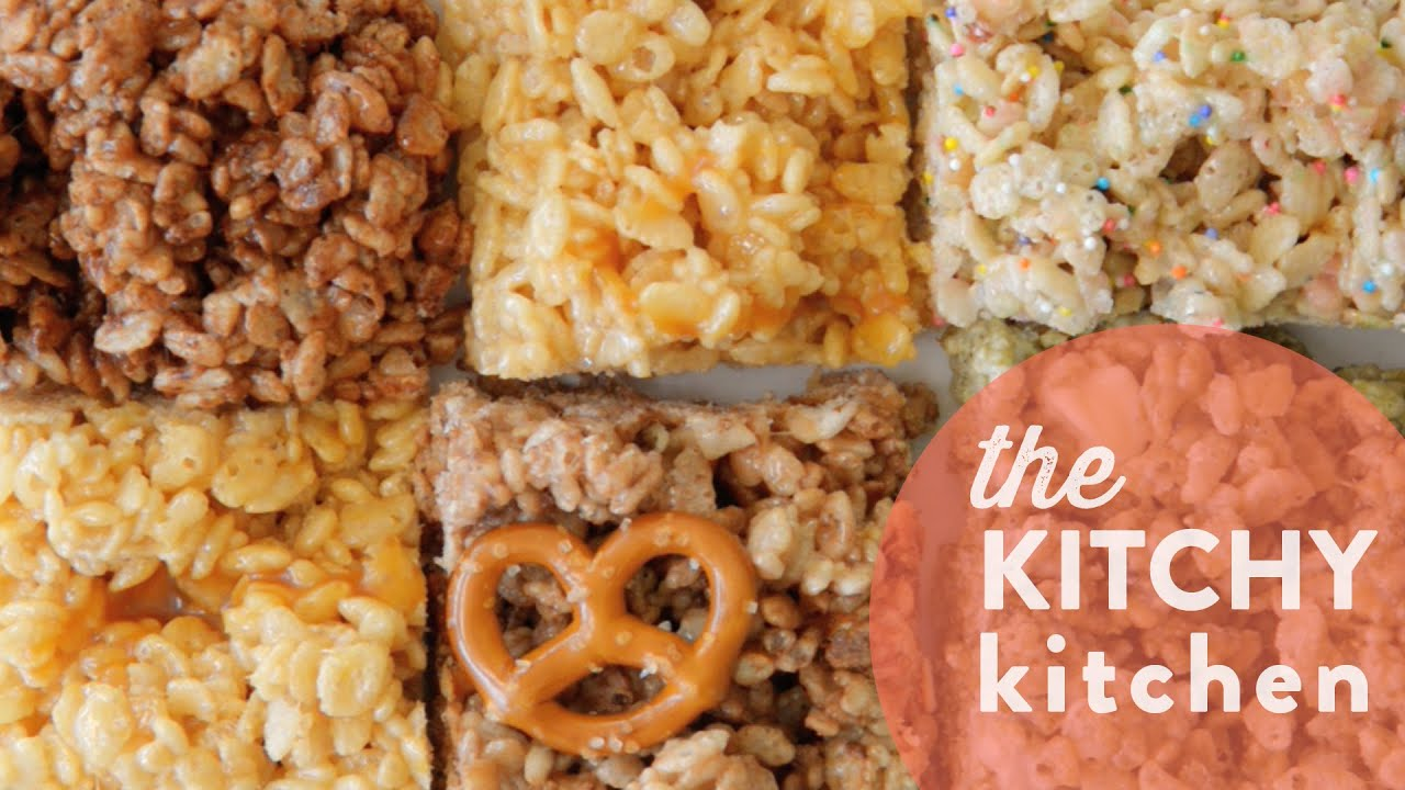 rice krispies 5 ways // the kitchy kitchen - youtube