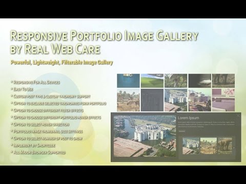 Responsive Portfolio Image Gallery Pro - WordPress