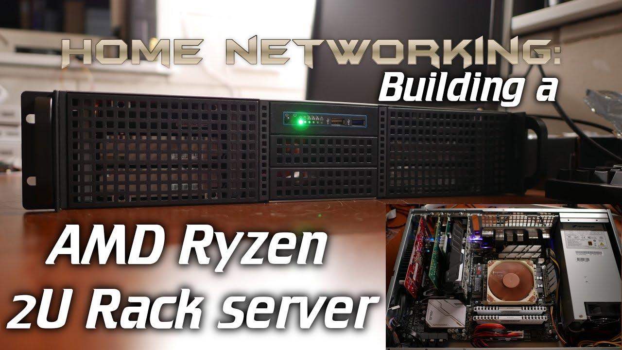 home networking building a 2u amd ryzen server inter tech ipc 2u 20255