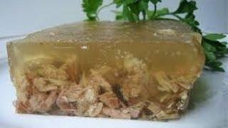 Как приготовить вкусный прозрачный холодец.  How to cook a delicious transparent jelly.(Подписывайтесь на мой видеоканал, впереди еще много интересного., 2013-11-13T08:02:16.000Z)