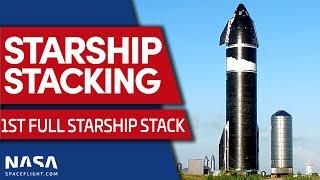 Starship Prototype Ship 20 Stacked on Super Heavy