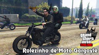 GTA V Online: ROLEZINHO 5 ESTRELAS DE MOTO GARGOYLE! #MorcegosDoAsfalto