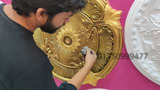 How to Assemble Modern Ceiling medallion antique Colour & Amazing silver Gold OIL Painting 4K- Ep-2