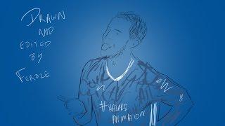 Eden Hazard Animation vs Everton by @feroze17