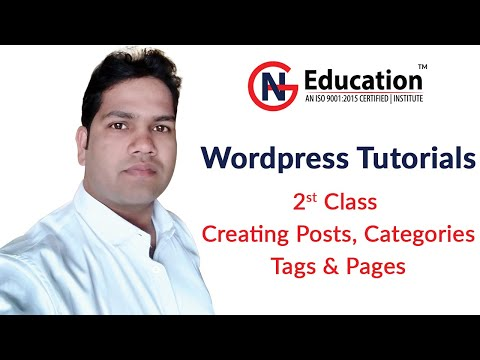 Create Posts, Pages, Categories, Tags in WordPress Hindi Tutorial thumbnail