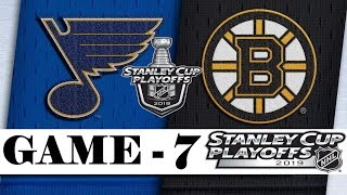 St. Louis Blues vs Boston Bruins | Final | Game 7 | Jun.12, 2019 | Stanley Cup 2019 | Обзор матча