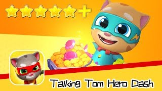 Talking Tom Hero Dash Run Game Day44 Walkthrough Hit 90 pumpkin raccoons Recommend index five stars+