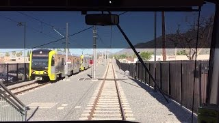 LA Metro Rail HD 60fps: AnsaldoBreda P2550 Gold Line Cab Ride (APU/Citrus College-Union Station)