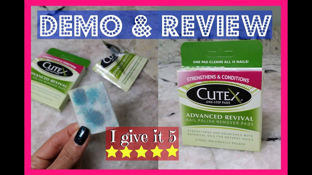 Cutex Nail Polish Remover Pads - Demo & Review - YouTube