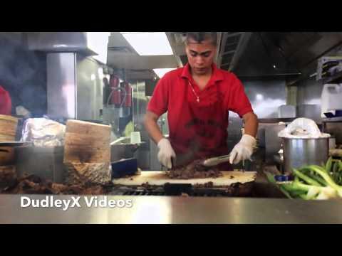 El Taquero Preparing Carne Asada Tacos Slow Motion HD