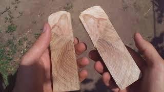 накладки Рукояти ножа из Дуба и березы Своими руками