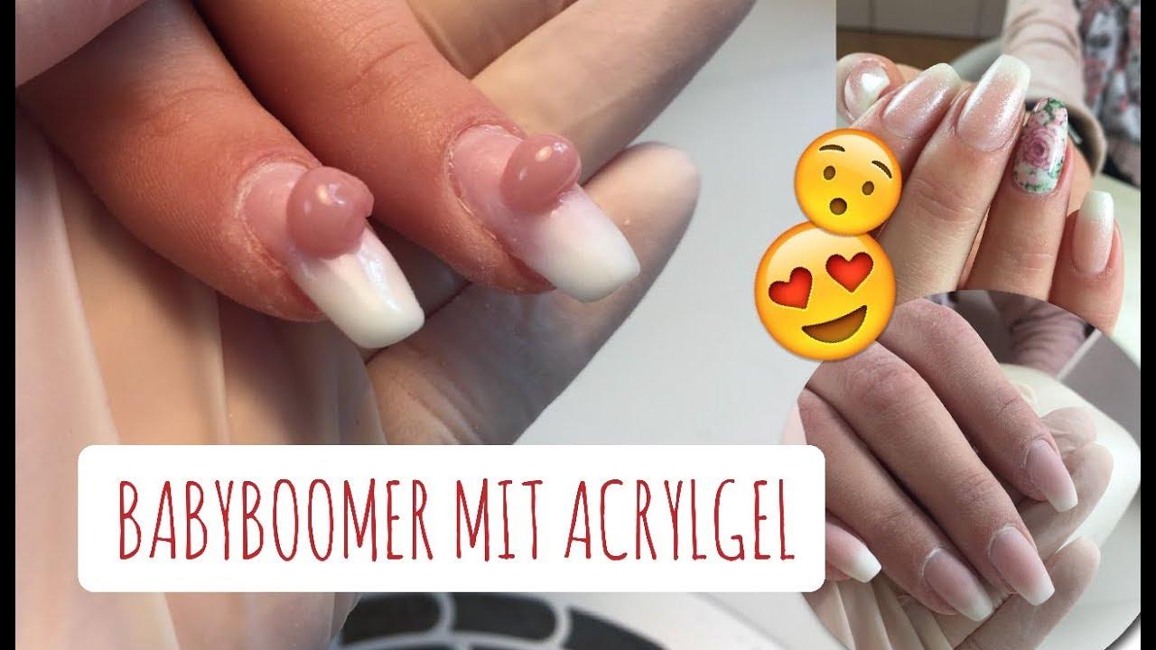 Babyboomer Mit Acrylgel Anleitungsvideo Fur Ein Refill Mit Dem