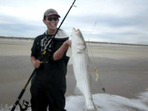 Fishing Striper At Sandy Hook 5 14 2011 Youtube