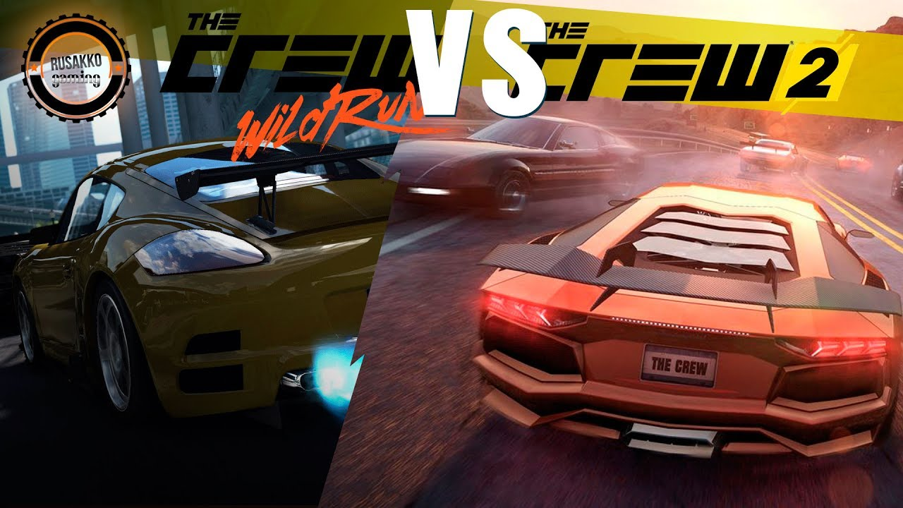 the crew wild run vs the crew 2 split screen graphics comparison ps4 gameplay youtube. Black Bedroom Furniture Sets. Home Design Ideas