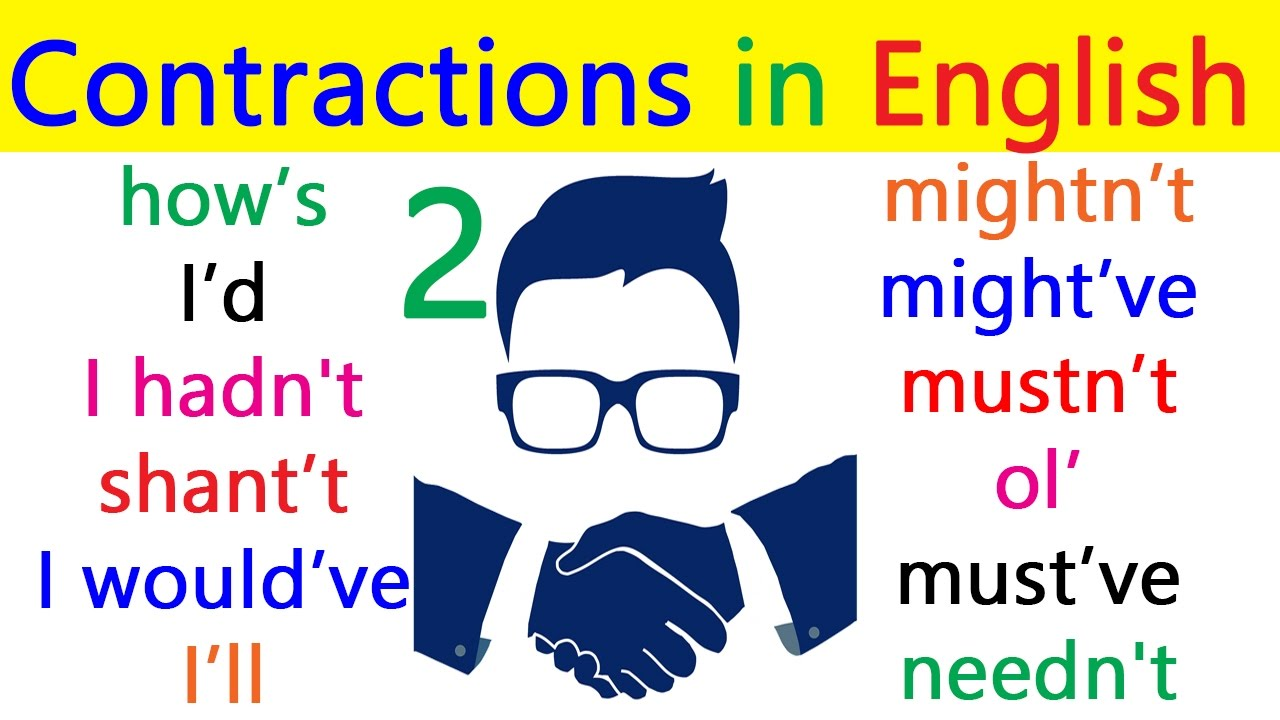 Common contractions in english english grammar | english grammar.