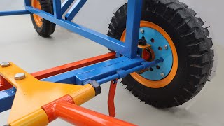 Build A Smart Dolly Vehicle Combine Mini Crane   Tips to Build Rotate Crane