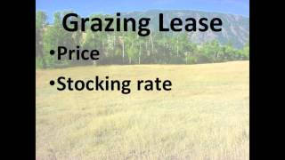 Pasture Lease Agreements