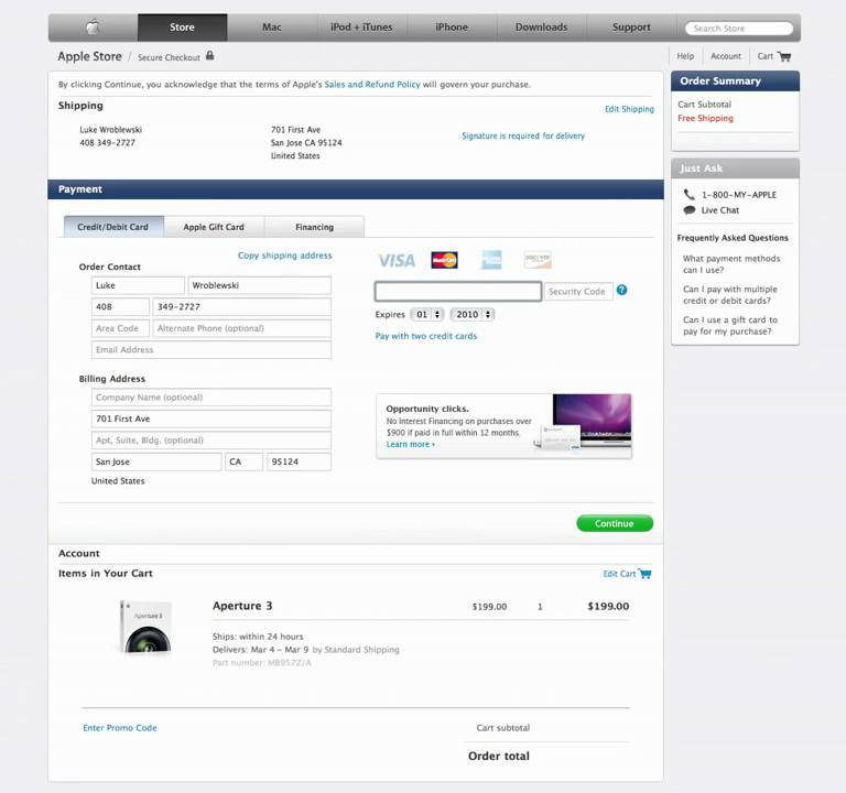 Apple's New Checkout Form Design - YouTube