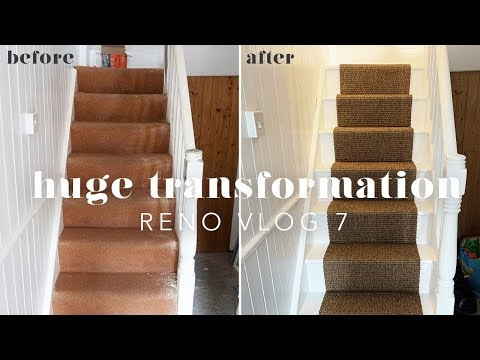 STAIRCASE & LANDING TRANSFORMATION | RENO VLOG 7