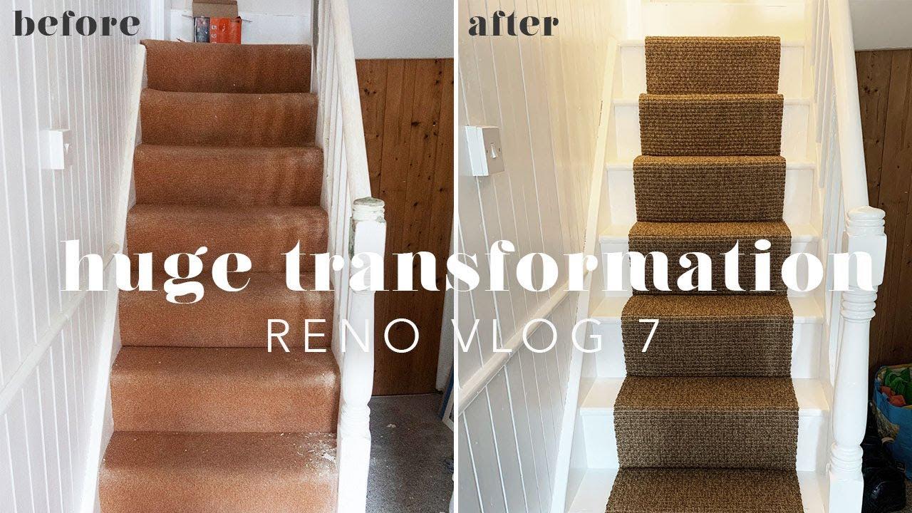 STAIRCASE & LANDING TRANSFORMATION   RENO VLOG 7