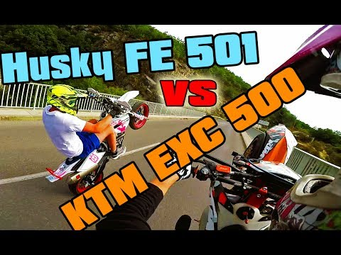 KTM EXC 500 SixDays vs Husqvarna Fe 501 - Setup & Wheelies