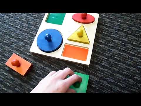 Remaking of the Geometric Puzzle Board from Baby Mozart
