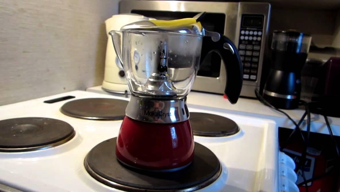 Bialetti Moka Chrystal Coffee maker presentation - YouTube