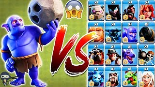 Bowler vs All Troops Clash of Clans Gameplay | Bowler vs every single Troop COC