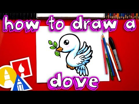 How To Draw A Dove & Olive Branch