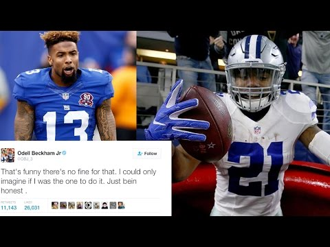 Odell Beckham Jr. PISSED Ezekiel Elliott Will NOT Be Fined, Calls Out NFL on Twitter
