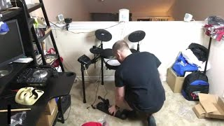 Simmons SD200 Electric drum kit UN BOXING - SETUP!