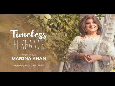 Bonanza Lawn By Marina Khan 2018 Timeless Elegance Collection