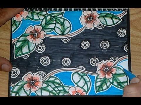 Batik Flora Motif Bunga Mudah Dan Menarik Youtube