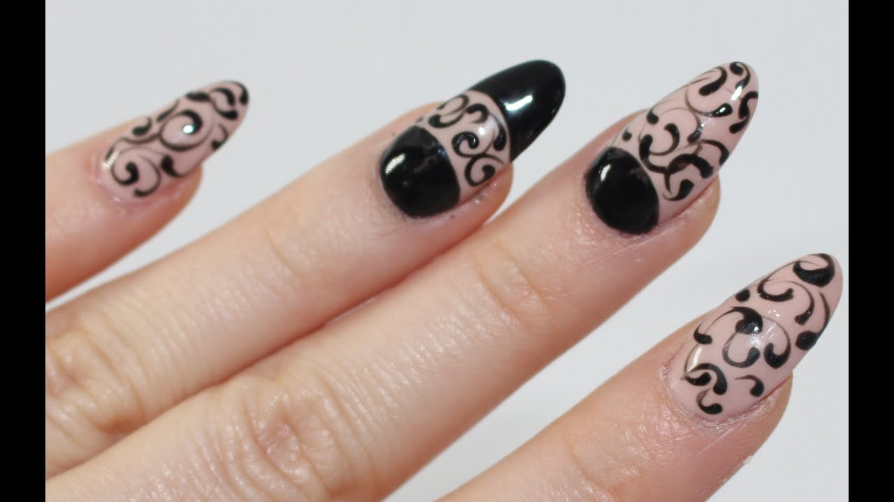 Nail Polish Art ! Model cu oja semipermanenta ! Decoracion manicura ...