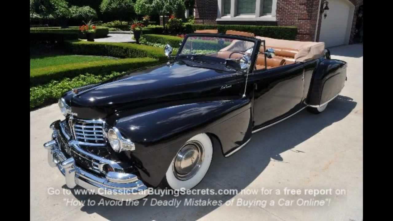 1947 Lincoln Continental Convertible Clic Muscle Car For In Mi Vanguard Motor S