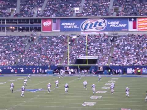 2007 Dallas Cowboys vs. Indianapolis Colts Preseason: Opening Kickoff